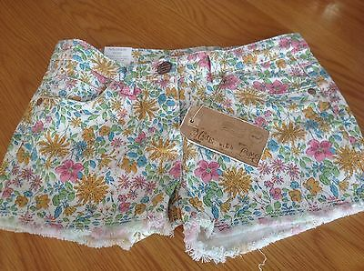 Brand New With Tags Next Frayed Flower Print Shorts