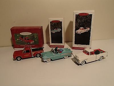 Hallmark Keepsake 1994, 1996, 2000,1957 Bel Air, 1955 Cameo 1978 Lil red express