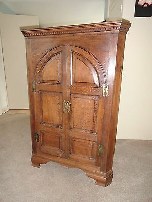 OAK ANTIQUE ARCHITECTURAL  CORNER CUPBOARD  18th Century  (Buyer collects)