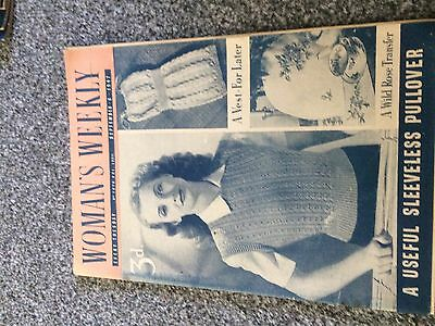 Vintage original Woman's Weekly magazine Sept 6 1947 No1870 Vol LXXII 70yrs old!
