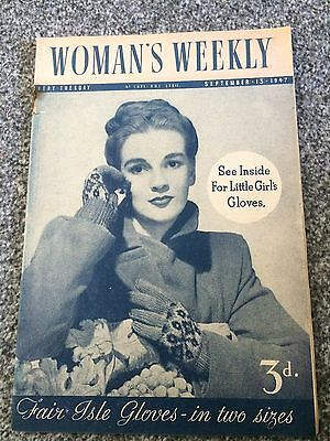 Vintage original Woman's Weekly magazine Sept 13 1947 No1871 Vol LXXII 70yrs old