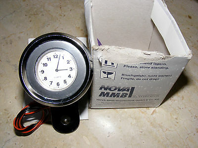 MMB Motorrad Anbau Uhr mit Beleuchtung 48mm -Made in Germany-
