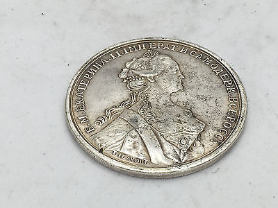 Russian silver medal , Russia Katharina silver order - medal 27,5 gr