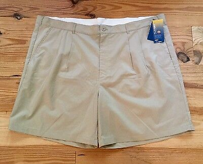 NEW Men's $60 REEBOK PLAY DRY Golf Sport Shorts w/ Logo on Back Size 52 Tan NWT!