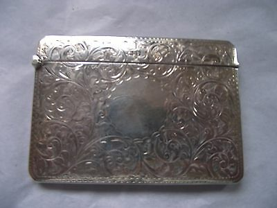 Antique Silver Card Case 1914 by Sparrow 61 grms