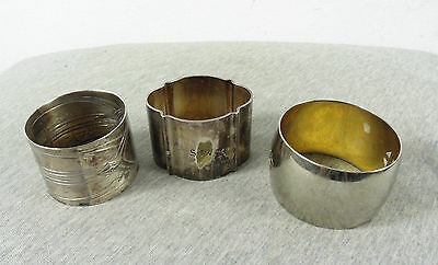 Lot Of 3 Vintage Antique Silver Plated Wmf & Other Napkin Ring Holders #3