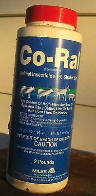 "Pest Control Lice ""Co-Ral"" Animal Dust Shaker Can 2 lb Beef, Dairy & Swine"