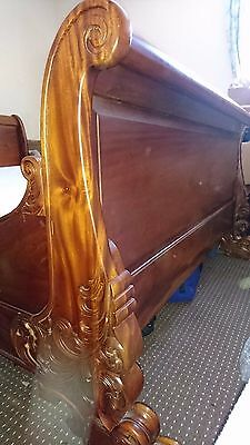 French Sleigh bed frame - mahogany - King Size