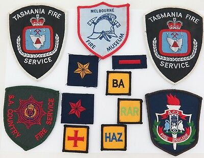 Good Lot Various States Fire Brigade Patches.