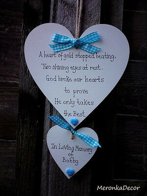 Large PET MEMORIAL-Dog-Cat Indoor Wooden Personalised Plaque- BLUE gingham