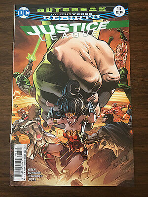 Justice League #10 DC Universe Rebirth Flash Wonder Woman Batman Near Mint