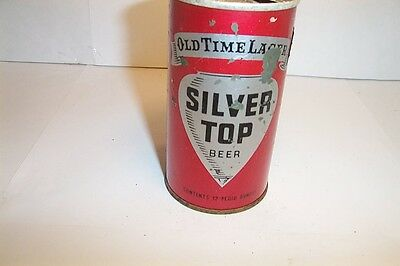 Silver Top Old Ttime Lager Beer Tab Top Dumper Duquense Brewing Pittsburgh PA