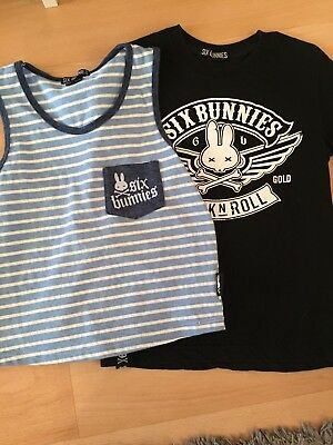 Boys Six Bunnies T-shirt And Tank Size 3-4