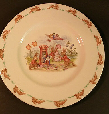 Royal Doulton Bunnykins Mail delivery plate