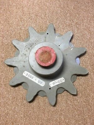"Vntg Steampunk Altered Industrial Art Gear Cog Wood Foundry Mold Pattern  16"" D"