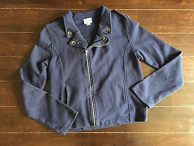 Disney D-signed Cloth Moto Jacket Blue Girls sz L 10