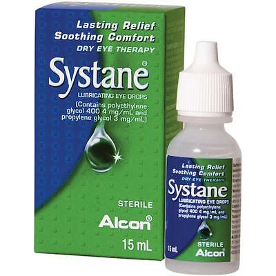 3 x Alcon SYSTANE Lubricating Eye Drops 15ml - Lasting Relief / Soothing Comfort