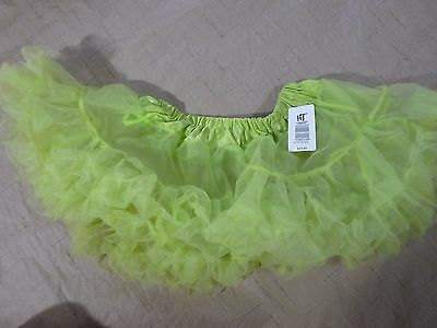 HOT TOPIC Petti Skirt Tutu RAVE dance cyber NEW WITH TAGS LIME GREEN One Size