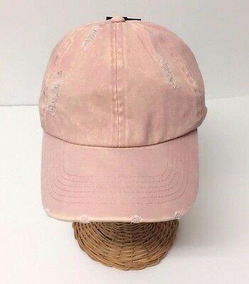Vintage Distressed Fashion Dad Hat Washed Polo Style Baseball Ball Cap NEW Pink