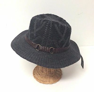 New Vintage Women's Floppy Brim W/ Ribbon Fedora Trilby Cap Panama Hat ,Gray
