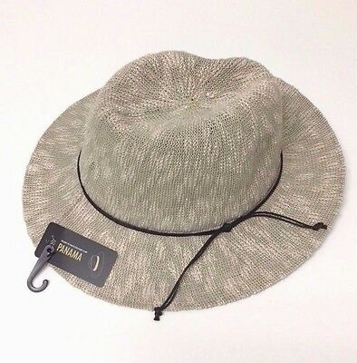 Floppy Hat Brim with Ribbon Women Folding Summer Beach Sun Hat Panama, Natural