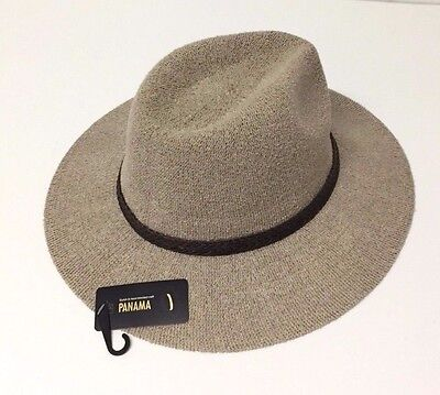 Women's Fashion Wide Brim Floppy Cap Summer Beach Sun Hat Elegant Panama Taupe