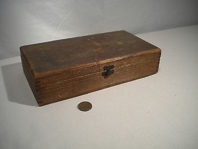 Antique Brass Hand Scales in Wood Box