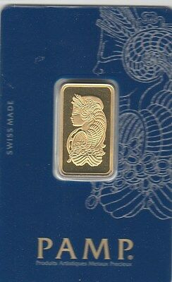 1 Tola Gold Bar PAMP Suisse Lady Fortuna Veriscan .9999 Fine (In Assay)