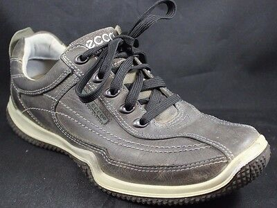 ECCO Men's 42 8-8.5 US Gray Oxford Lace Up Leather Shoes Sneakers