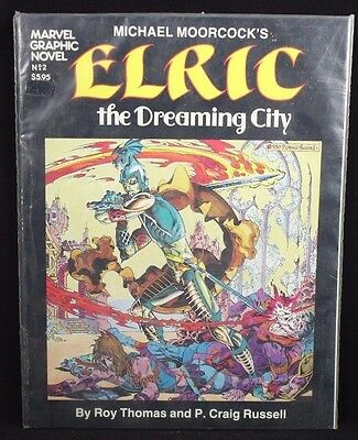 Marvel Graphic Novel #2 - Michael Moorcock's Elric The Dreaming City 1982 Marvel