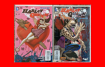 DC Comics New52: HARLEY QUINN #3 & #11 (Monsters of the Month Variant) SIGNED!!!
