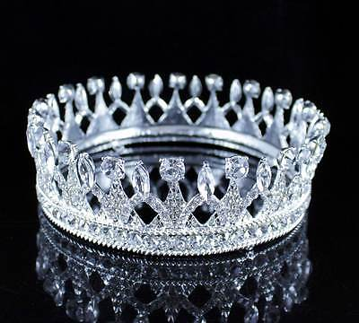 Dignity Full Crown Austrian Crystal Rhinestone Tiara Pageant T11986S Silver