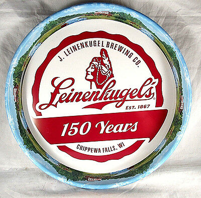Leinenkugels Beer 150th Anniversary Tray Metal Collectible New Leinies