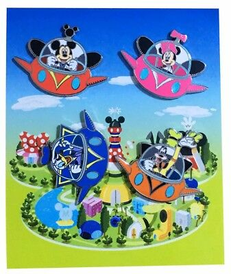 2014 Disney Flying UFO Booster Pack Set of 4 Pins 108425