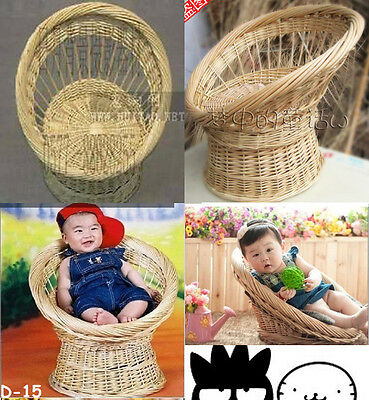 Newborn baby photography photo props handmade bassinet basket chair seat  15