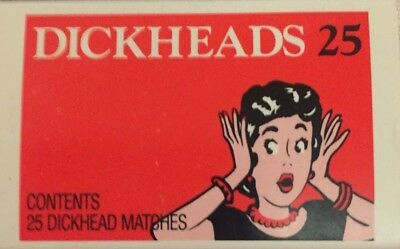 Dick Smiths, DICK HEAD Matches.Rare Opportunity, As They Didn't Get A Fair Go.