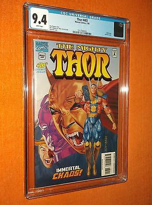 THOR #482 CGC 9.4 {400th issue} {Harrison cover} - Phenomenal cover art!!!