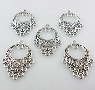 24/200pcs Tibetan silver Earring Jewelry Connectors Bails Charms 8x16mm