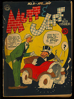 Mutt and Jeff #9, 10, 12 Golden Age GROUP (3 Comics) DC 1943 GD