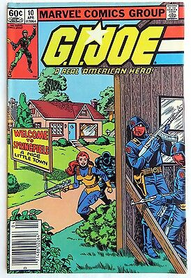 G.I Joe #10 - Marvel, 1983 -  HIGH GRADE 9.0 VF/NM Uncertified - Free Shipping!!