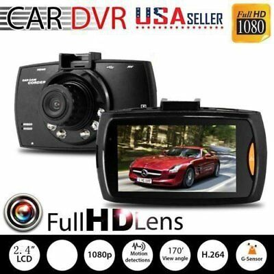 "1080P 2.4"" LCD Car Camera Full HD Dash Cam Crash DVR G-sensor Night Vision USA"