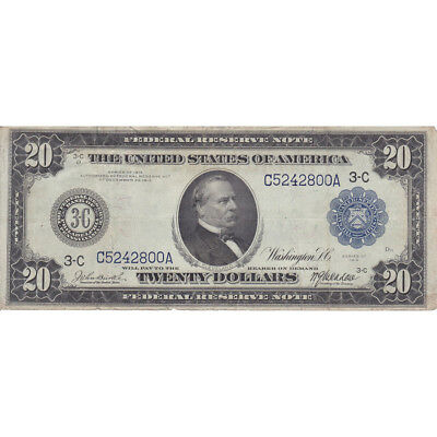 1914 Series $20 Federal Reserve Note VF