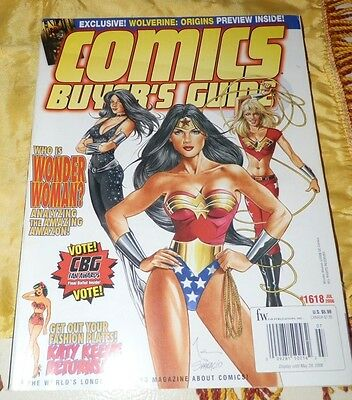 July, 2006 Comic Buyer's Guide Magazine-Wonder Woman Cover and Article