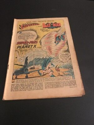 WORLD's FINEST COMICS #96 AWESOME LATE GOLDEN AGE/SILVER AGE COVERLESS