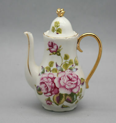 Vintage Hand Decorated Porcelain Decorative Display Teapot