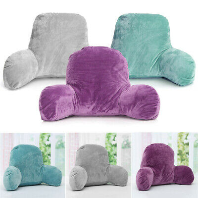 Lumbar Bed Rest Back Pillow Support Arm Stable Backrest Seat Cushion Lounger UK