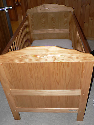 Wooden Cot bed with optional mattress