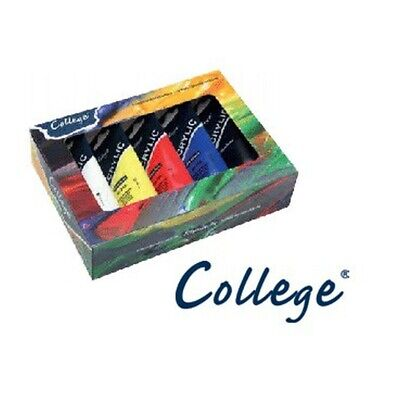(52,77€/1l) Schmincke College Kartonset 5 x 75ml 83 702 097 Acrylfarben