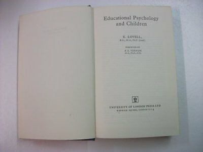 Educational Psychology and Children by Lovell, K. Hardback Book The Cheap Fast