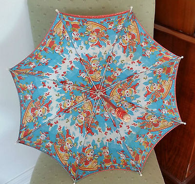 Retro Vintage Little Girls Umbrella/Parasol